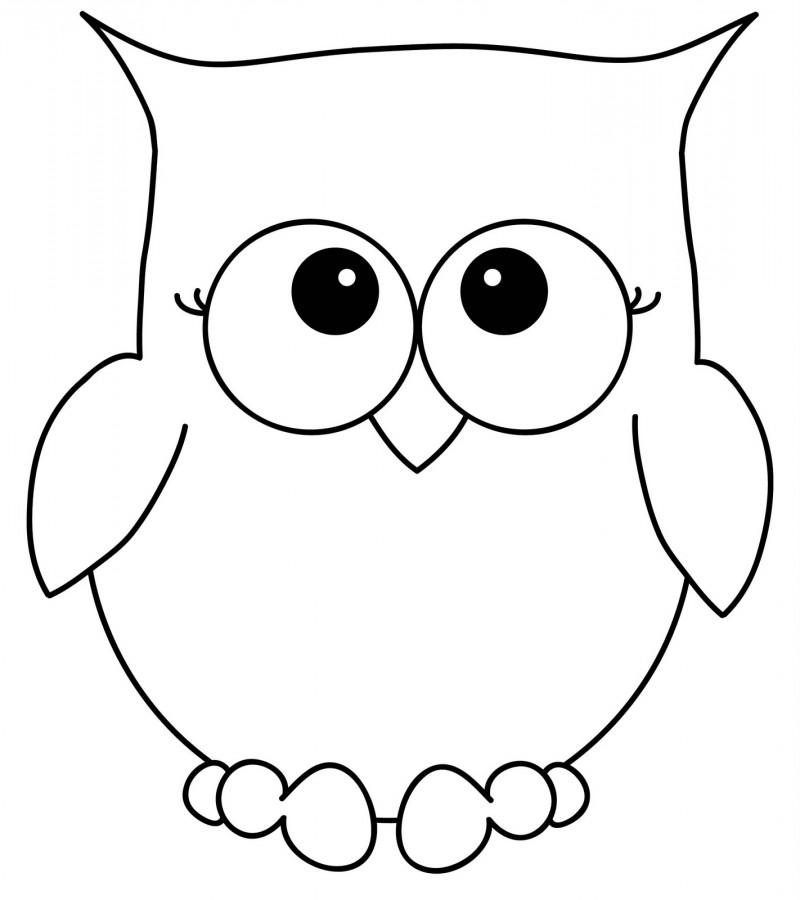 Dibujos de Búhos para Colorear - DeBuhos.com